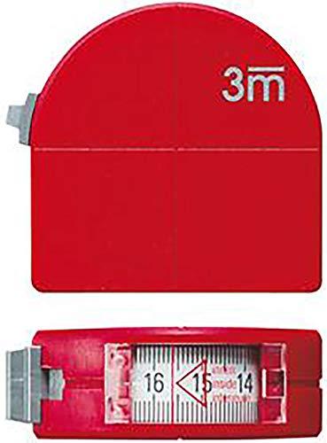 Taschenbandmaß m.Sichtf. 3m x 16mm Zirkelf. FORMAT