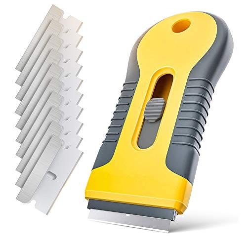 Rascador de vitrocerámica Sadubty con cuchillas de acero inoxidable para limpiar pegatinas...