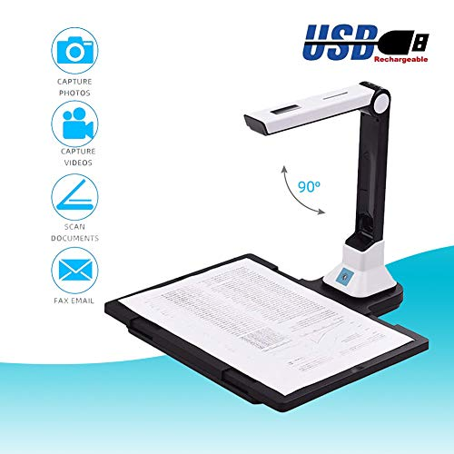 Learn More About POEO Document Camera, High Definition Portable Scanner, Capture Size A4, Multi-Language OCR, English Article Recognition, Excellent for Distance Education and Web Conferencing,Hard Bottom