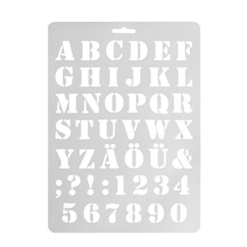ruiruiNIE Letra Alfabeto Número Capas Plantillas Capas Pintura Scrapbooking Sellos Álbum