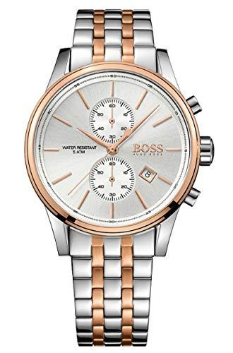 Hugo Boss Herren Chronograph Quarz Uhr mit Edelstahl Armband 1513385