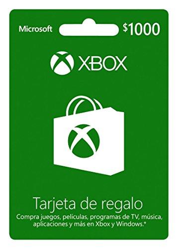Tarjeta Xbox Live $1,000 MXN – Xbox One Standard Edition