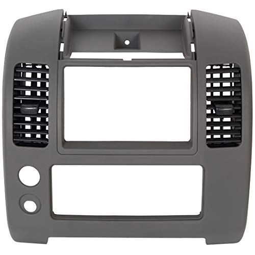 ECOTRIC Front Center Dash Console Compatible with 2006-2016 Nissan Frontier, Front Center Dash Console Instrument Panel Lid Bezel Dashboard Cover Replacement for Part Number 68259-ZP16D, Gray