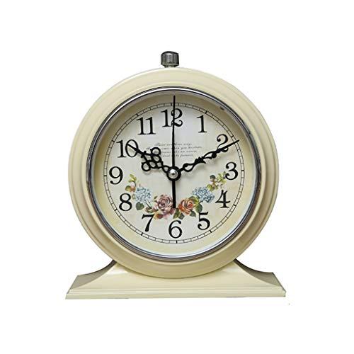 Relojes de escritorio Reloj de cabecera del dormitorio retro Estudiante silenciador de alarma de reloj simple reloj creativo reloj local de la personalidad creativa del sitio de reloj de estar Europea