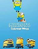 Minions Colorear Ninos: 60 Minions Fcil y divertido para nios