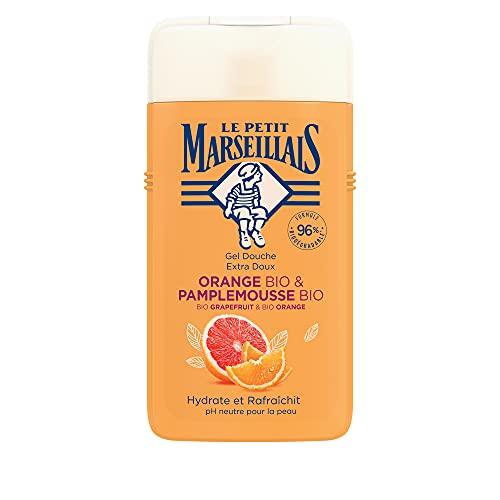 Le Petit MarseillaisDuschgelBio Grapefruit & Bio Orange(250ml),pH-hautneutralePflegedusche& sanfteAromaduschemit besonders angenehmen Duft, spendetFeuchtigkeitunderfrischt
