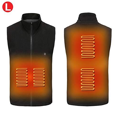 fervory Beheizte Weste USB Lade Leichte Körperwärmer Weste, Elektrische Wärmeweste Heizung Warme Jacke Für Winter Skifahren Wandern Motorrad Reise