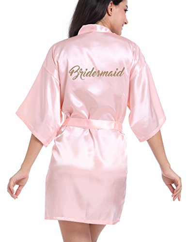 Women's Satin Kimono Robe for