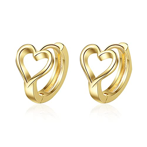 New 925 Sterling Silver Heart Cross Stud Earrings For Women Girls Romantic Wedding Jewelry Brincos Pendientes A001