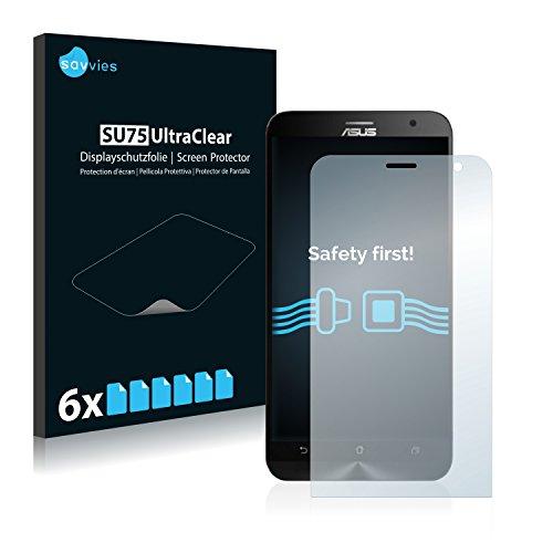 Savvies 6X Schutzfolie kompatibel mit Asus ZenFone 2 Laser ZE550KL Bildschirmschutz-Folie Ultra-transparent