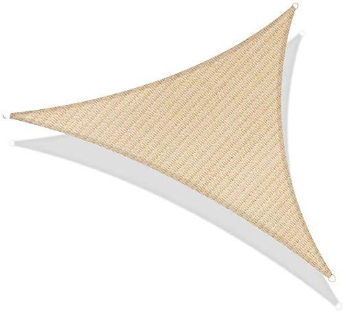 Triángulo de la cortina de Sun de Vela protectora resistente al agua Toldo Toldo UV bloque de Sun de la vela por un partido de jardín Patio Patio al aire libre, verde, 3.6X3.6X3.6M, Tamaño: 3X3X3M, Co