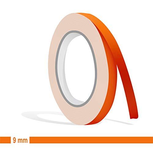 Siviwonder Zierstreifen orange matt in 9 mm Breite und 10 m Länge für Auto Boot Jetski Modellbau Klebeband Dekorstreifen