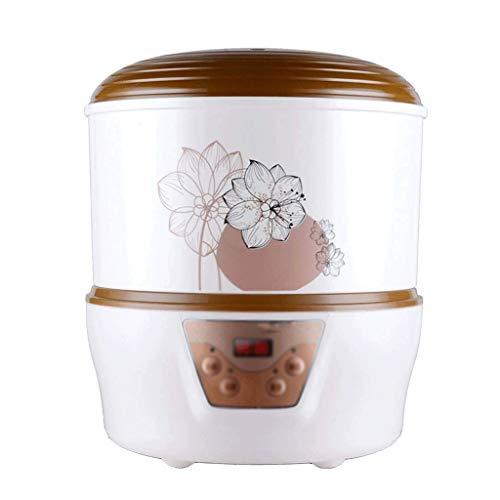 SNJDX Joghurt-Maschine - Sojabohnensprossen-Maschine Joghurt-Maschine mit Edelstahl-Basis, Digitalanzeige, Selbstauslöser, Deckel frei, perfekt for Selbstgemachtes