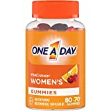 One A Day Women's VitaCraves Multivitamin Gummies, Supplement with Vitamin A, Vitamin C, Vitamin D, Vitamin E and Zinc for Immune Health Support*, Calcium & more, 80 count