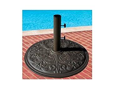 Market Umbrella Base Cast Iron with Bronze Powder Coating 50 Lbs.