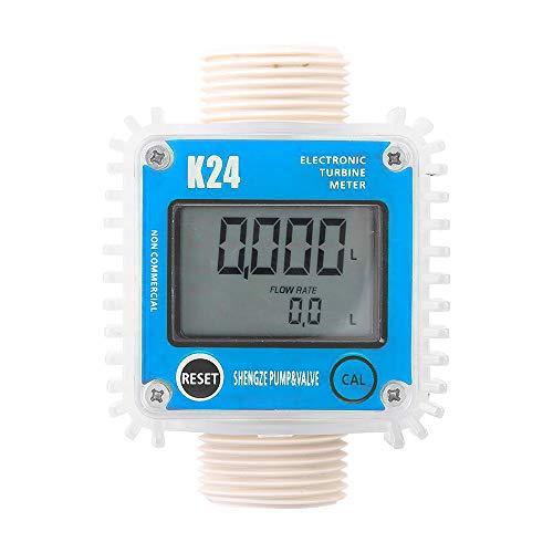 KKmoon K24 Digital Durchflussmesser mit LCD Display für flüssiges Wasser der Chemikalien Diesel Kerosin Benzin