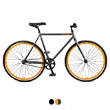 Critical Cycles Harper Coaster Fixie Style Single-Speed Commuter Bike with Foot Brake, Matte Black,...