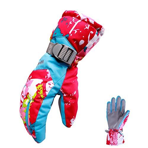 Icegrey Gants de Ski Écran Tactile Thinsulate Gants Hiver Neige Snowboard Cyclisme Randonnée Fushia + Bleu Une Taille Femme