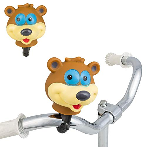 Smart-Planet Divertente campanello per bicicletta – Testa di animali – Campanello per bicicletta – tromba – Clacson – Orso – Bicicletta – Campanello per bicicletta per bambini