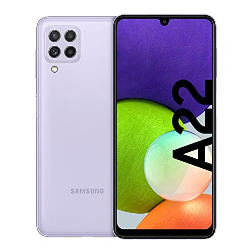 Samsung Galaxy A22 Smartphone ohne Vertrag 6.4 Zoll 128 GB Android Handy Mobile Violet
