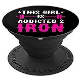 Dieses Mädchen ist Addicted 2 Eisen Fitness Gewicht-Training - PopSockets Ausziehbarer Sockel und...