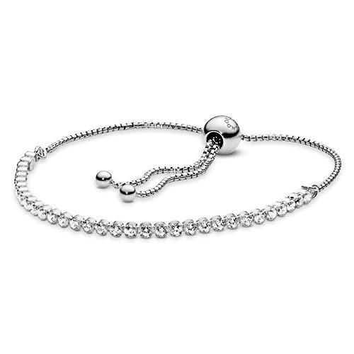 Pandora Damen Funkelndes Schiebe-Tennisarmband Sterling Silber Cubic Zirkonia 590524CZ-1