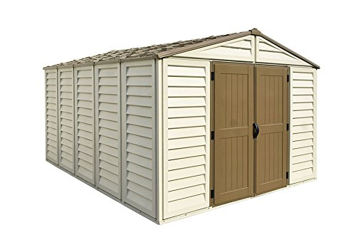 Duramax 40234 Woodbridge Vinyl Storage Shed, 10-11/16'W x 13-5/16'D x 7-5/8'H, Includes Foundation