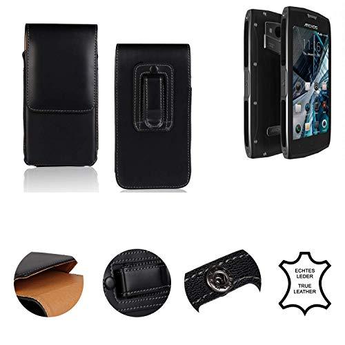 K-S-Trade® Holster Gürtel Tasche Für Archos Sense 50X Handy Hülle Leder Schwarz, 1x