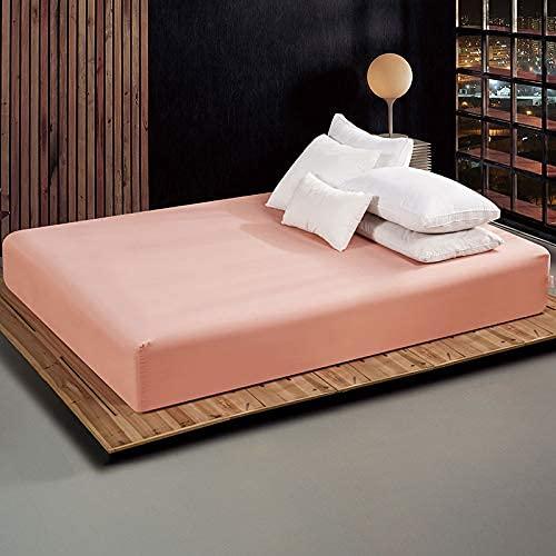 Funda de colchón de color sólido para cama con banda elástica de 180 x 200 cm, calidad de hotel (color: 4, tamaño: funda de almohada de 48 x 74, 2 unidades)