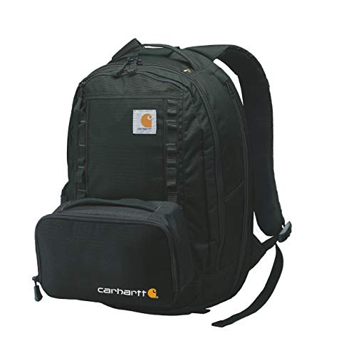 Carhartt Cargo Series Medium Backpack and Hook-N-Haul Insulated 3-Can Cooler, Black