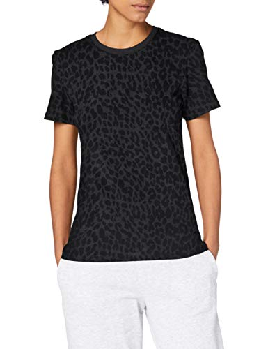 Superdry Black out tee Camiseta, Leon Leopard, XS para Mujer