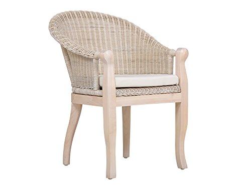 massivum Stuhl Cobra 68x87x67 cm Rattan weiß lackiert