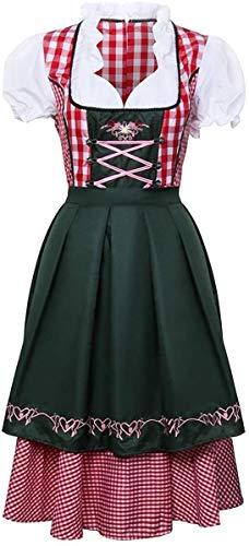 YBINGA Disfraz para mujer, fiesta de cerveza alemana, Oktoberfest tradicional bvaro para Halloween, fiesta de mucama a cuadros, disfraz de cosplay (tamao: M)