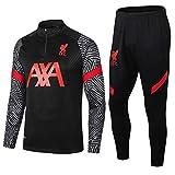 LZMX Traje de fútbol Deportes 2 Piezas de Club de fútbol Traje de Entrenamiento Traje Uniforme Manchester City Liverpool Manga Larga Pantalones Regalo Oficial de fútbol + (Size : XL)