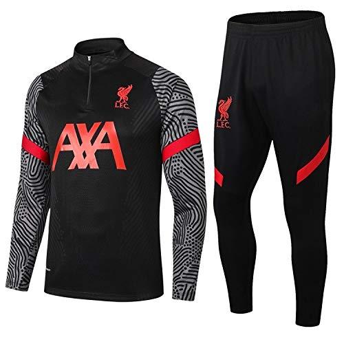 LZMX Fußball Sport Suit 2 Stücke Football Club Anzug Uniform Trainingsanzug Manchester City Liverpool Langarm-Shirt + Hosen Offizielle Fußball-Geschenk (Size : L)