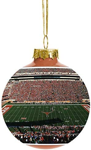 Team Beans NCAA Panoramic Team Stadium Glass Ball Christmas Tree Ornament 2 5 8 Texas Longhorns product image