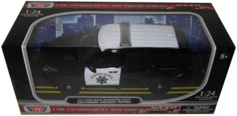 Motor Max 1 24 W B 2015 Ford Police Interceptor Utility with Light Bar CHP Diecast Vehicle