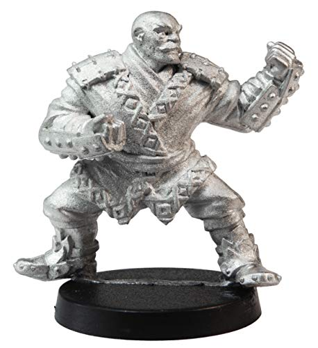 Stonehaven Miniatures Male Human Monk Miniature Figure, 36mm - 100% Pewter Metal - Includes Slotted Creator Base - for 28mm Scale Table Top War Games - Designed & Made in USA