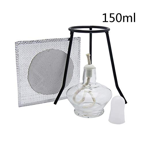 Lowest Price! DADAKEWIN 150ml Glass Alcohol Burner Set with 20 Replacement Wicks & A Asbestos Net & ...