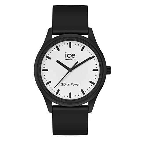 Ice-Watch - ICE solar power Moon - Schwarze Herren/Unisexuhr mit Silikonarmband - 017763 (Medium)