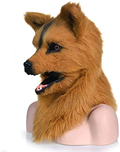 SRY-masks Mouth Can Move Mouth Mover HalFaibleeen marron Wolf Masks - Masque pour Animaux ( Couleur   marron , Taille   2525 )