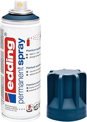 edding 5200 Permanent Spray - elegant nachtblau matt - 200 ml - Acryllack zum Lackieren und Dekorieren von Glas, Metall, Holz, Keramik, Kunststoff, Leinwand - Lackspray, Acrylspray, Farbspray