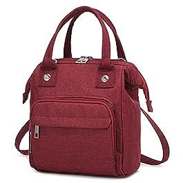 LOVEVOOK Petit sac à bandoulière en toile pour femme