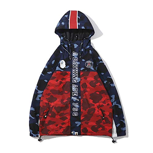 Bape co Camouflage Blue red Windbreaker Jacket for Men/Women