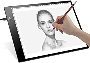 FAVOLCANO A4 Ultra-Thin Portable LED Light Box Tracer USB Power Cable Dimmable Brightness Tracing Light Pad Light Box for Artists Drawing Sketching Animation Designing Stencilling X-ray Viewing