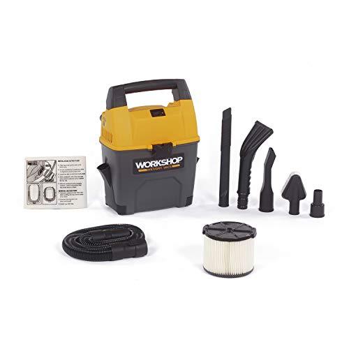 WORKSHOP Wet/Dry Vacs WS0301VA Portable Wet Dry Vacuum Cleaner For Car, 3-Gallon Wet Dry Auto Vacuum...