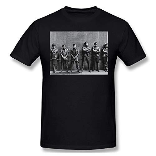 IUBBKI Camiseta básica de Manga Corta para Hombre Men Print with Huey P Newton Fashion Short Sleeve T-Shirt