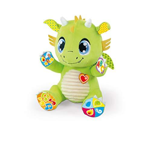 Clementoni-55388 - Ramón, mi amigo el Dragón - peluche interactivo para bebés a partir de 6 meses