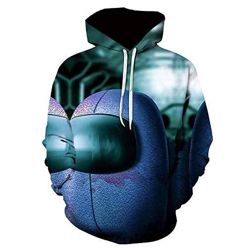 Among Us niños Sudadera con Capucha 3D Imprimió Hoodies Casual Manga Larga Pullover Juego Sweatshirt Unisexo-A_2XL