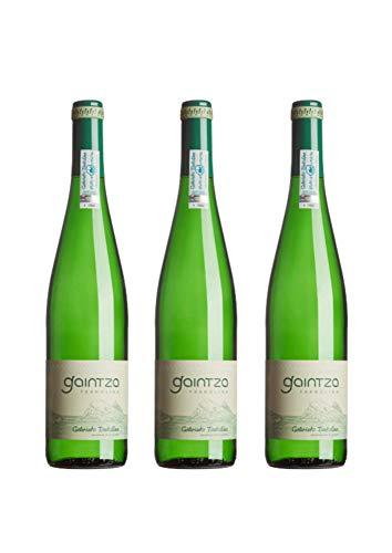 Txakoli Gaintza, vendimia 2019, caja de 3 botellas, denominación de origen Getariako Txakolina - Txakolí de Getaria, vino blanco